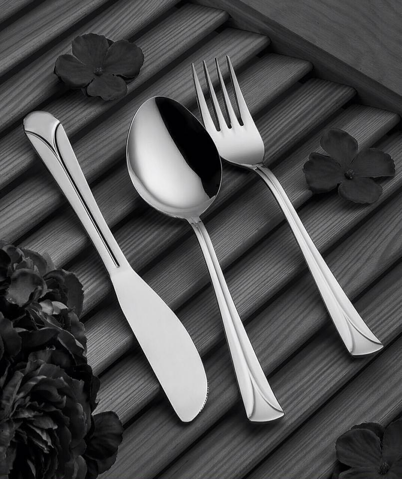 Tercan Sade Modeli Çatal Kaşık Bıçak Seti